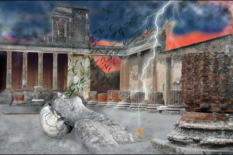 The Remains of the Day - Vesuvius Horror-Pompeii 79AD by Maggie Magee Molino