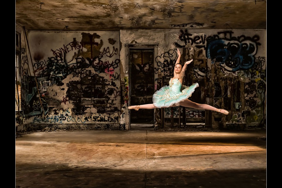 Ballet Among Graffiti by David Gardiner