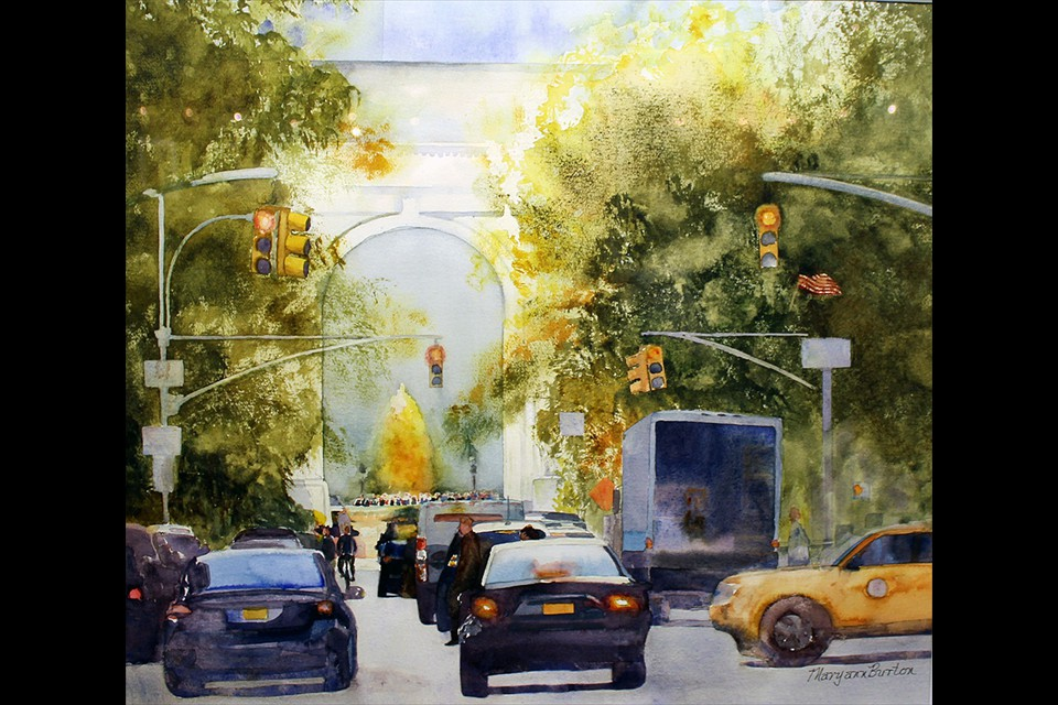 Washington Square Park Arch by Maryann Burton