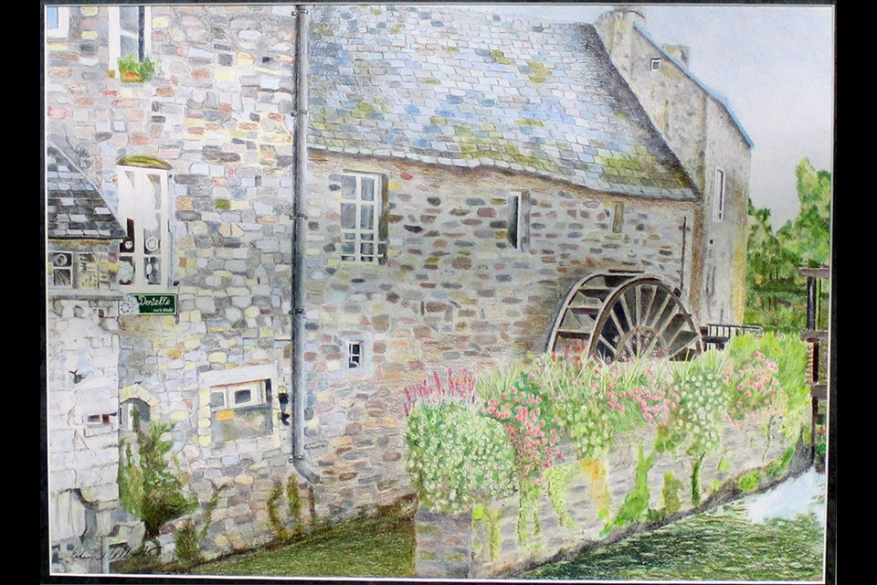 Waterwheel in France by Eileen Albrecht