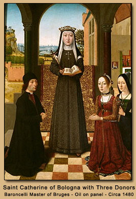 St. Catherine with Three Donors